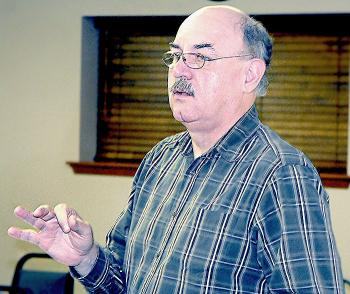 State Rep. Sam Jones speaks at the Port of Morgan City meeting Tuesday.