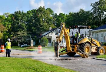 Road work on Federal Avenue in Morgan City in August 2012.