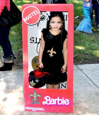 Zynlee Rivas, 5, of Houma, won the costume competition for the pre-kindergarten to kindergarten division Saturday at the Zoo to Boo Family Fun Day. Rivas was dressed as a New Orleans Saints Barbie doll.