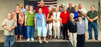 October birthdays and anniversaries were recognized during the St. Mary AARP meeting