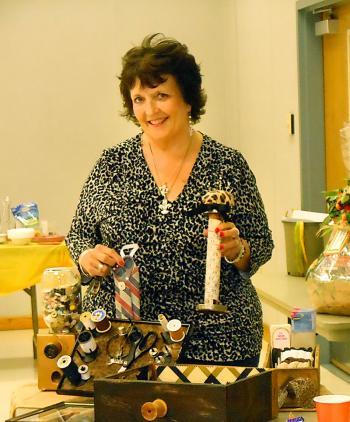"Bayou Vista Garden Club members learned about ""upcycling"" from member Kim Alcina, environmental awareness chairman. She displayed several ""upcycling"" craft projects she designed utilizing items found in sewing rooms and baskets."
