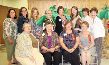 "Chi Chapter representatives attended the Epsilon State, Delta Kappa Gamma Society International, Southwest District meeting Oct. 5. Seated from left are Annette Carr, Betty Casselman, Alecia Rabalais and Jeannie Landry. Standing from left are Emily Guillotte, Chrissy Harrison, Malissa Hebert, Margaret ""Bunny"" Casselman, Nancy Crochet, Dawn Chaisson, Robbie LeBlanc and Mary Ann Hebert. Carolyn Chaisson also attended."