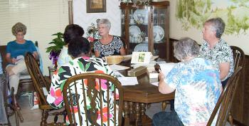Patterson Garden Club members make final preparations for the Louisiana Garden Club Federation District 3 meeting. The meeting is set Oct. 15 at The Petroleum Club of Morgan City.