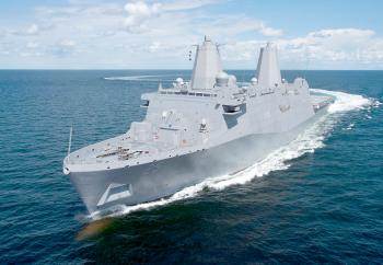 Huntington Ingalls Industries (NYSE:HII) announced Friday, Oct. 18, that its Ingalls Shipbuilding division has delivered the amphibious transport dock Somerset (LPD 25) to the U.S. Navy.